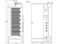 Potis Dönergrill / Gyrosgrill E4 - elektro