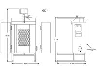 Potis Dönergrill / Gyrosgrill GD1 - Erdgas