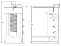 Potis Dönergrill / Gyrosgrill G1 - Erdgas