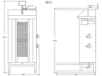 Potis Dönergrill / Gyrosgrill GD2 - Erdgas