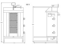 Potis Dönergrill / Gyrosgrill GD3 - Erdgas