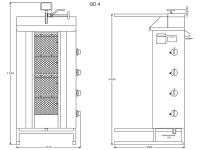 Potis Dönergrill / Gyrosgrill GD4 - Erdgas