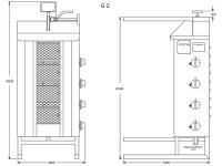 Potis Dönergrill / Gyrosgrill G2 - Propangas