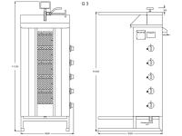 Potis Dönergrill / Gyrosgrill G3 - Propangas