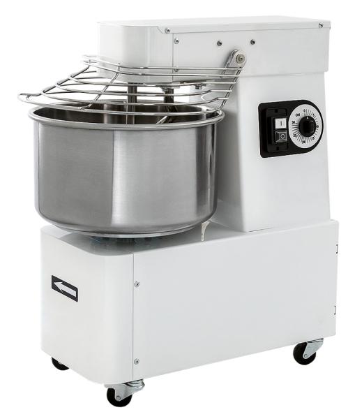 PREMIUM Teigknetmaschine 32 Liter auf Rollen mit Timer