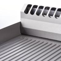 Premium Gas-Grillplatte 40x70cm - gerillt
