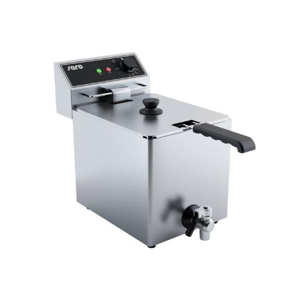 SARO - Profi Fritteuse 8 Liter mit Ablasshahn