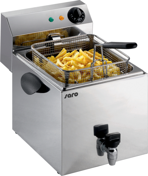 SARO - Premium Fritteuse 8 Liter mit Ablasshahn