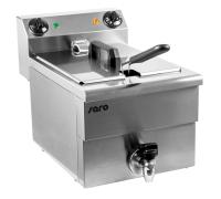 SARO - Premium Fritteuse 10 Liter mit Ablasshahn