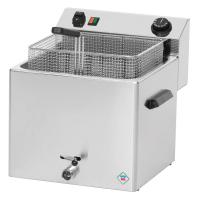 Premium Power-Fritteuse 11 Liter mit Ablasshahn - 8,1 kW
