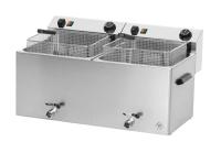 Premium Power-Fritteuse 11+11 Liter mit Ablasshahn - 2x...