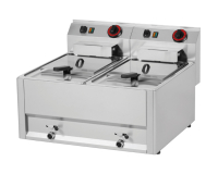 Fritteuse 8+8 Liter, 66x60 cm (12 kW) - elektro