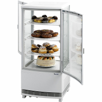 Kühlvitrine 86 Liter mit 2 Türen - weiß