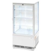 Kühlvitrine 78 Liter - weiß