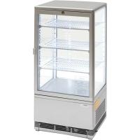 Kühlvitrine 78 Liter - silber