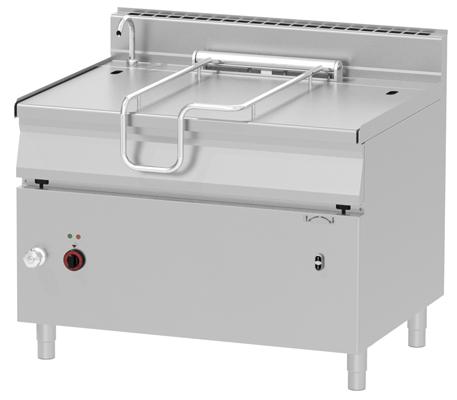 Gas Kippbratpfanne 120 Liter - elektrische Kippung