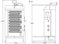 Potis Dönergrill / Gyrosgrill E2 - elektro