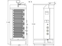 Potis Dönergrill / Gyrosgrill E3 - elektro